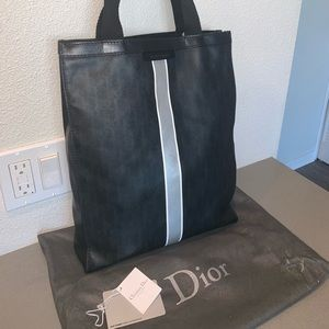 Authentic Dior homme trotter shopper travel tote